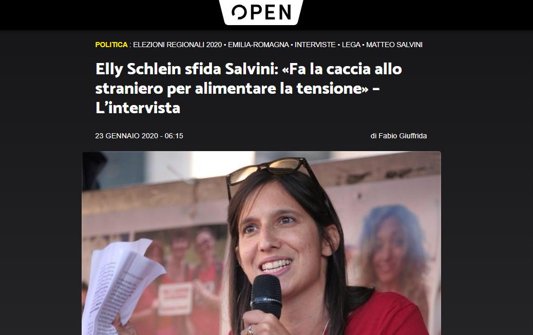 Open – Elly Schlein sfida Salvini: «Fa la caccia allo straniero per alimentare la tensione» – L'intervista