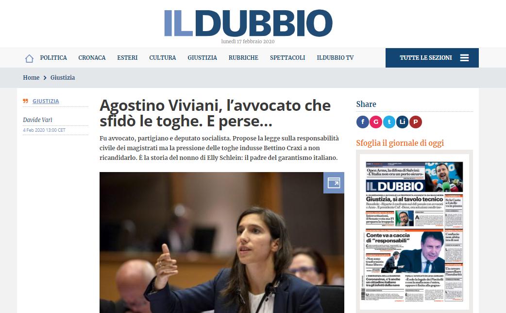Il dubbio: Agostino Viviani, l'avvocato che sfidò le toghe. E perse…