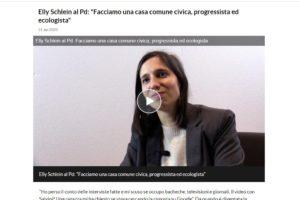 """La Repubblica – Elly Schlein al Pd: """"Facciamo una casa comune civica, progressista ed ecologista"""""""
