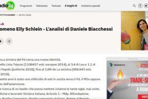 Radio 24 – Il fenomeno Elly Schlein – L'analisi di Daniele Biacchessi
