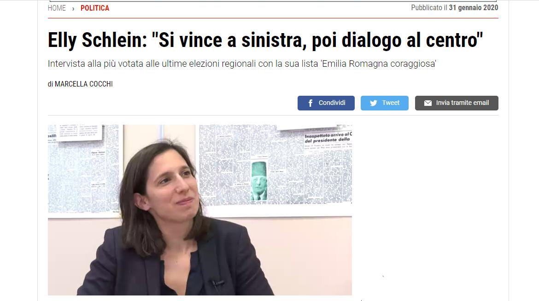 "Quotidiano.net – Elly Schlein: ""Si vince a sinistra, poi dialogo al centro"""