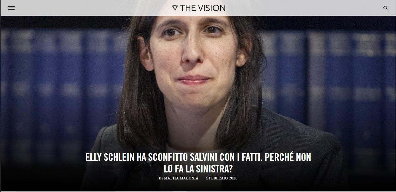 THE VISION – ELLY SCHLEIN HA SCONFITTO SALVINI CON I FATTI. PERCHÉ NON LO FA LA SINISTRA?